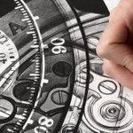 Image for the Tweet beginning: Discover the spectacular hand-sketched watch