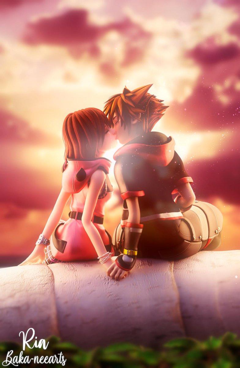 Last kiss.  #Sokai #Sora #Kairi #KH3 #KH3Spoiler #KingdomHearts<br>http://pic.twitter.com/e2aZ6c7je8