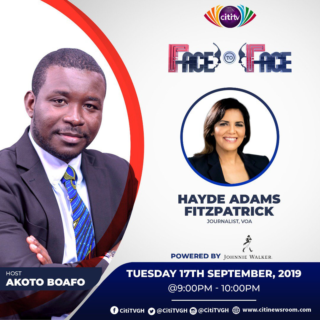 I'm having a journo to journo chat tonight with @VOANews journo Hayde Fitzpatrick.#FacetoFace starts 9pm on @CitiTVGH