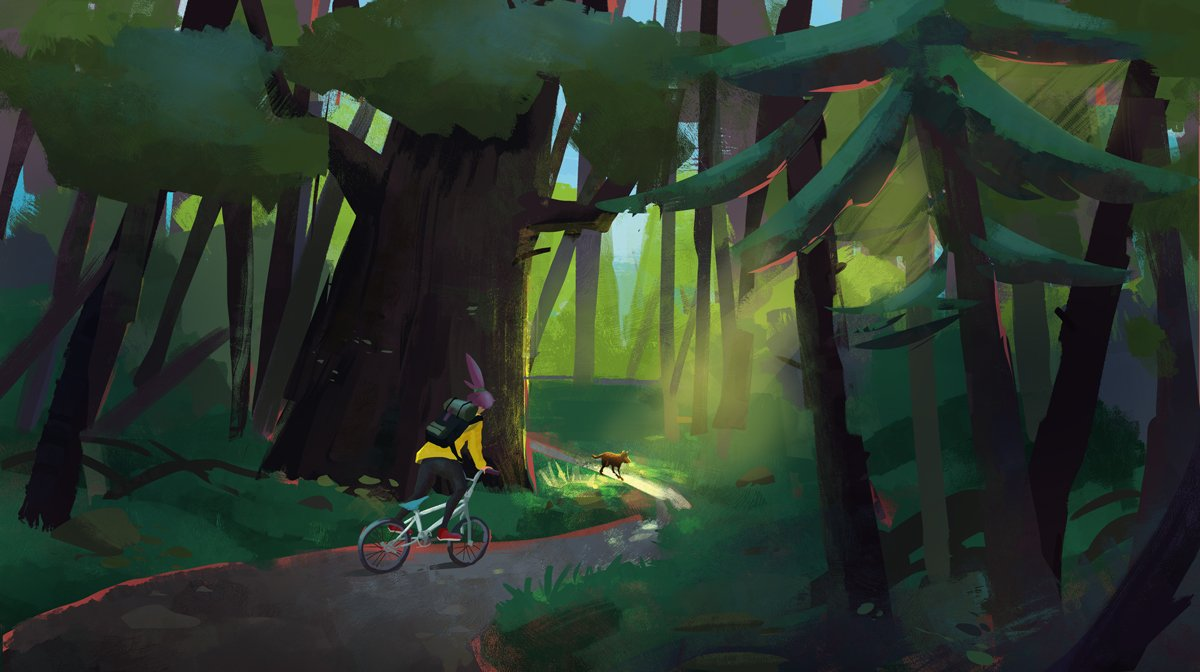 I'm in love with drawing forest!  This concept was made to capture very important moment in my story - when girl meets her best friend... but, in future best friend) Now she needs nobody and nothing.  #visualart #animation #concept #ArtistOnTwitter #PortfolioDay <br>http://pic.twitter.com/hHQXrT4xzk