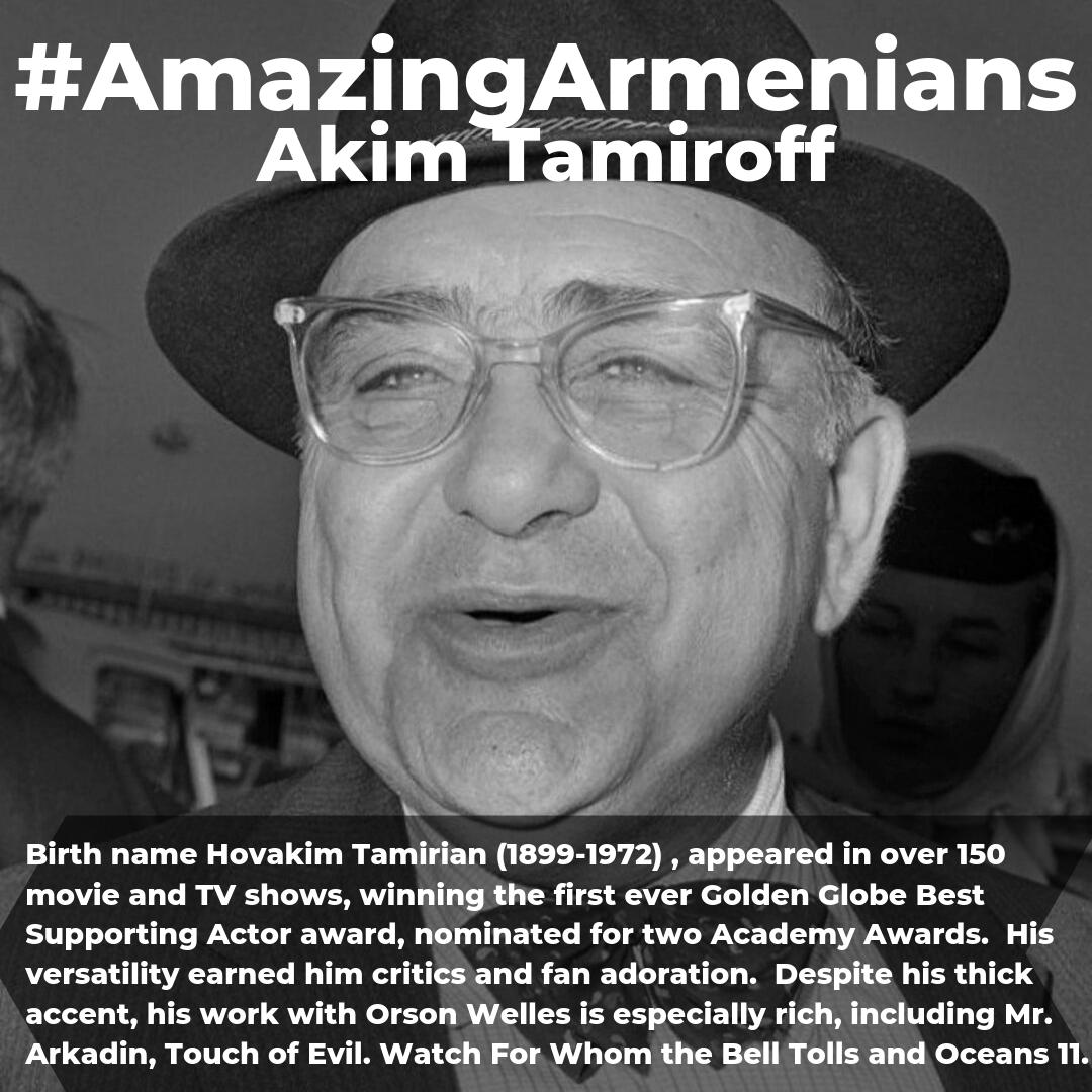 We remember #AkimTamiroff in so many roles!  #Armenia has produced so many talented people! #AmazingArmenians #ArmenianTrilogy https://t.co/7w3Gdw8YJL