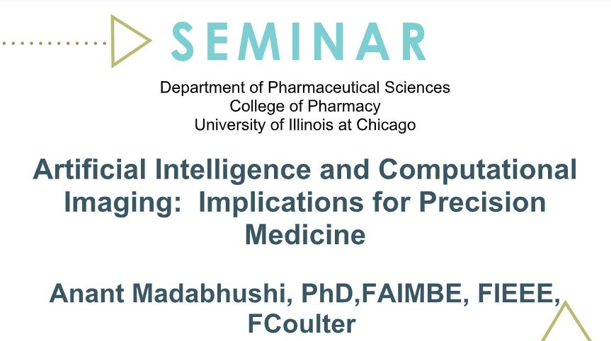 test Twitter Media - @CCIPD_Case Anant Madabhushi (@anantm) will present #ArtificialIntelligence and Computational Imaging: Implications for #PrecisionMedicine, Wednesday, September 18, 11am EST @UICPharm #UICPharm https://t.co/vffAfu1CXZ