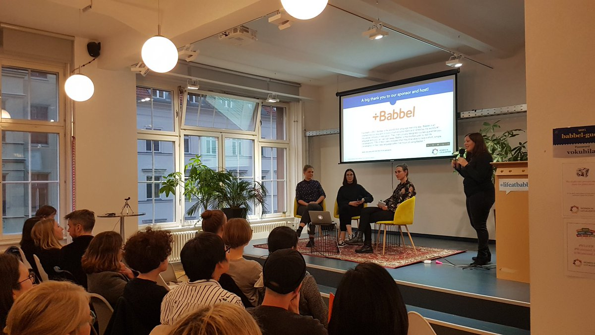 Today's WLDE Berlin event at Babbel about Inclusive Language in Localisation has started. Excited to hear how the L10n experts and Content Strategist at Babbel manage this important challenge. #WLGER #WomeninL10n #Babbel #inclusionmatters<br>http://pic.twitter.com/iHPmU51nXl