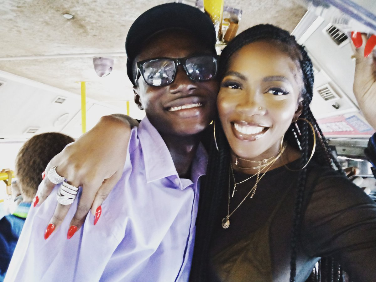 Met Nigerian music icon @tiwasavage today. She told me one day I will make my mom proud. Today was her single launch on her International label #Tiwa4999 The concert was held at a bus station in #Obalende, Lagos, #Nigeria  #tiwa4999  #tiwasavage #TiwaSavageInLagos  #4999InLagos<br>http://pic.twitter.com/cPAtRdKtSl