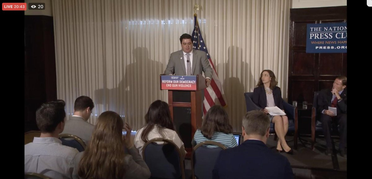 LIVE: We're with @SenBlumenthal and @RepLucyMcBath for an important panel on reforming our democracy to #EndGunViolence.   If we want to keep our communities safe from gun violence, we must cut the ties between money and politics.  TUNE IN NOW: https://t.co/VgUfy102xZ https://t.co/I74x5pC53J