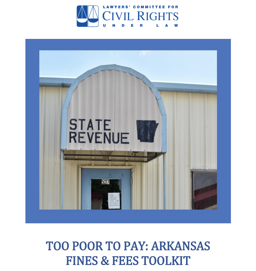 In Arkansas, the poorest people pay the most when imprisoned.   Indigent individuals are required to pay an installment fee for the opportunity to make monthly payments when they can't afford to pay their fines & costs immediately and in full.   Read more: https://t.co/MzbTXFy5Nw https://t.co/WoUvYq2j33