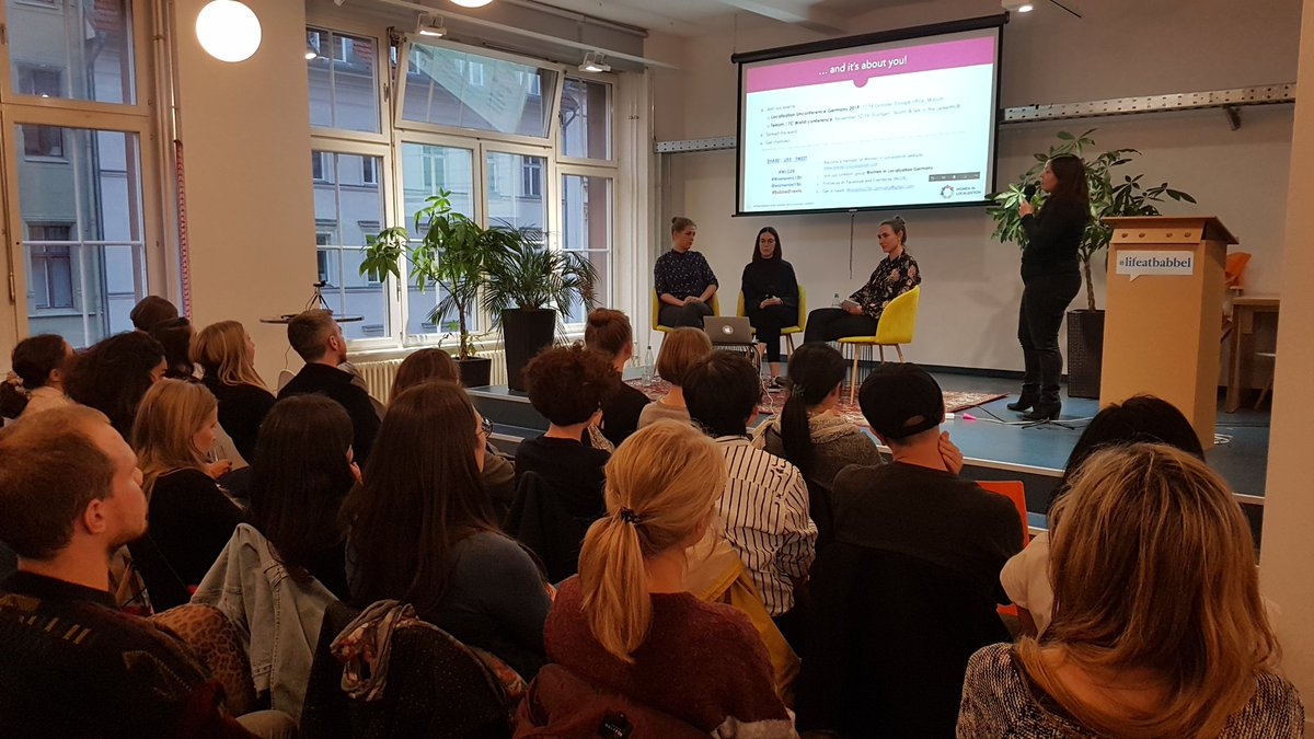 Women in Localization Germany sends a big hello from our Berlin event to our Munich Kick-Off event. It's great to see our commuinity expanding. Because our network is all about our members! #WLGER #WomeninL10n #Berlin #Munich<br>http://pic.twitter.com/CPYTTGzKKI