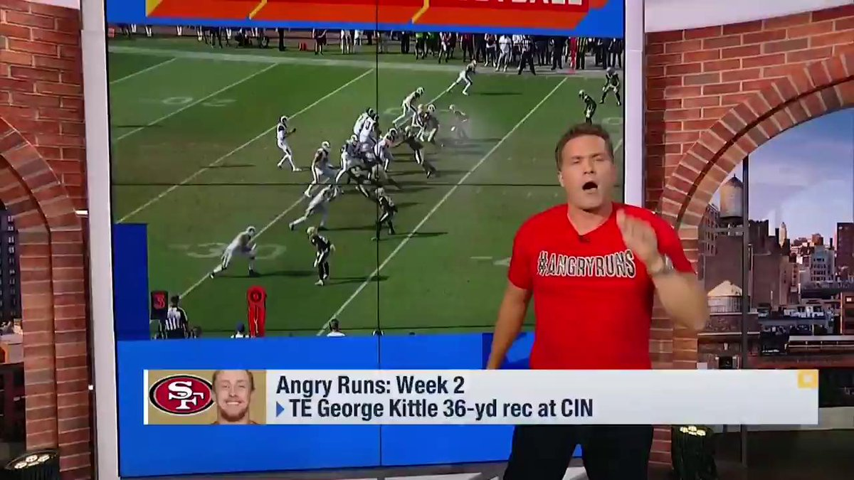 COOPER ANGRY KUPP RUNNETH OVER  Week 2 #AngryRuns Champ, @CooperKupp! 👑  📺: @gmfb | @nflnetwork https://t.co/1hSFLmp1bN