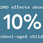 Image for the Tweet beginning: ADHD affects about 10% of