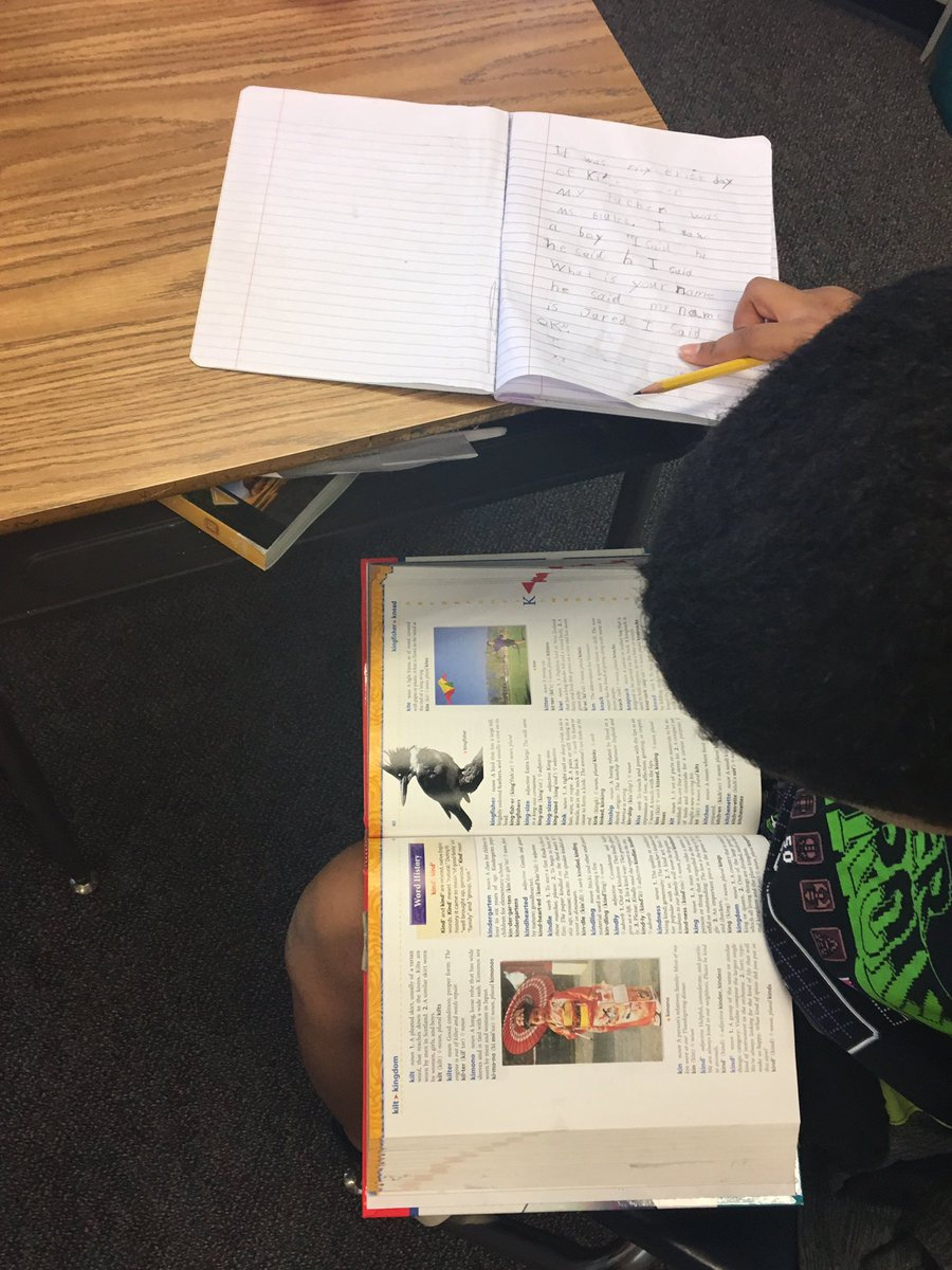 We reviewed how a dictionary can help us during writing workshop <a target='_blank' href='http://search.twitter.com/search?q=hfbtweets'><a target='_blank' href='https://twitter.com/hashtag/hfbtweets?src=hash'>#hfbtweets</a></a> <a target='_blank' href='http://twitter.com/APSLiteracy'>@APSLiteracy</a> <a target='_blank' href='http://twitter.com/APS_ELA_Elem'>@APS_ELA_Elem</a> <a target='_blank' href='https://t.co/gJyzI1INlS'>https://t.co/gJyzI1INlS</a>