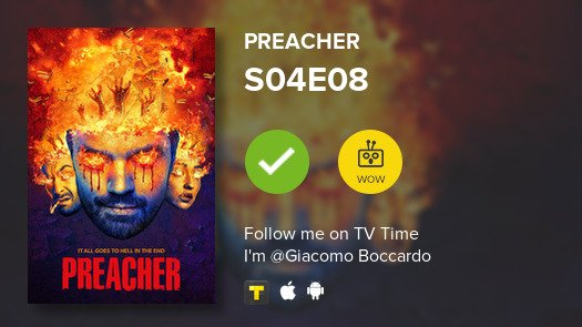 test Twitter Media - I've just watched episode S04E08 of Preacher! #preacher  #tvtime https://t.co/KbwlZqeF3y https://t.co/AXYvX4XZvS