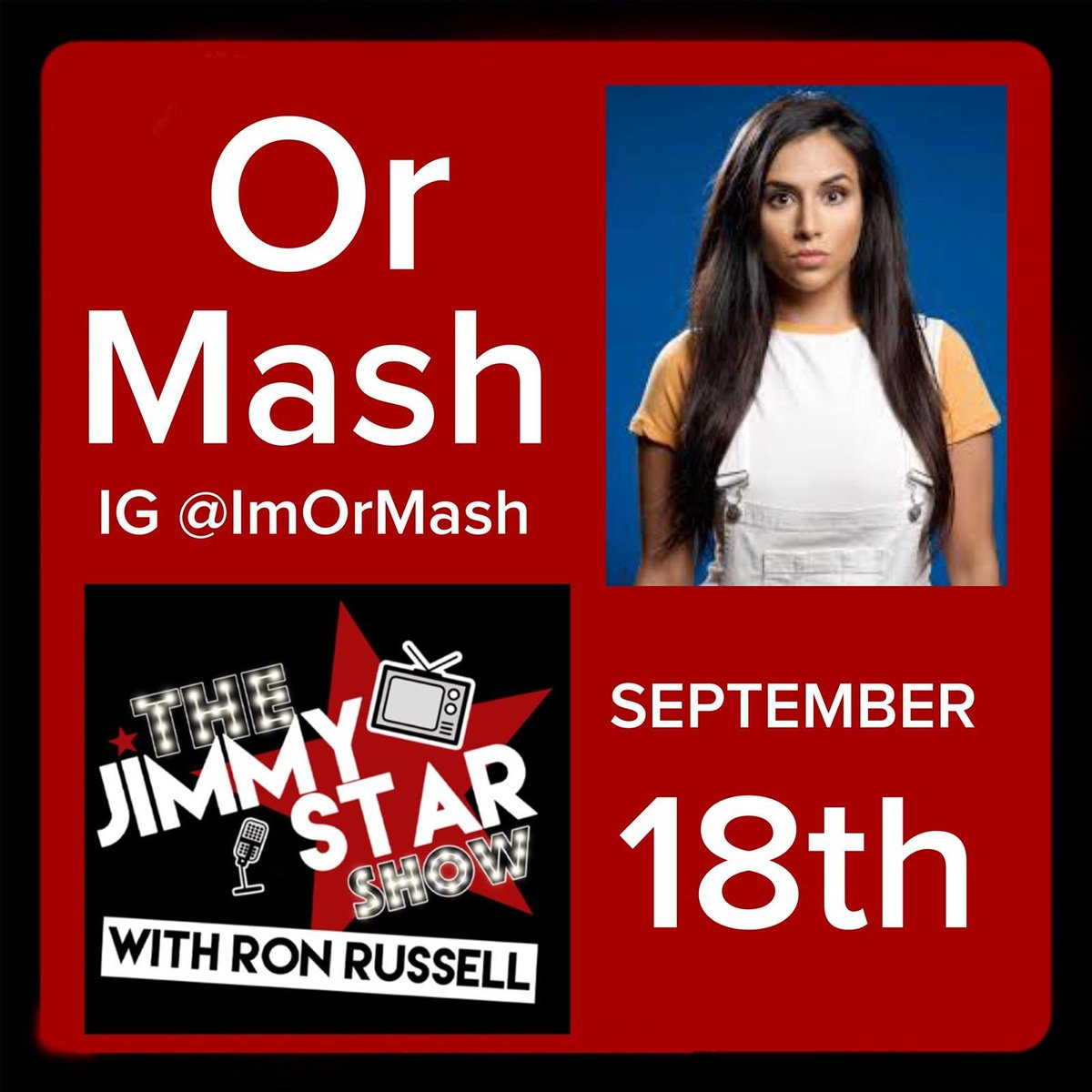 Tomorrow live on The Jimmy Star Show with cool outrageous man about town and my favorite co- host Ron Russell! Interviewing radio/📺 personality and one of the funniest comedians I know Or Mash! @Theehollydavids @ruthi_davis @DrJimmyStar @Jimmy_Ron_Fans @jimmystarshow