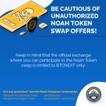 Image for the Tweet beginning: ❗️❗️The only official Noah Token