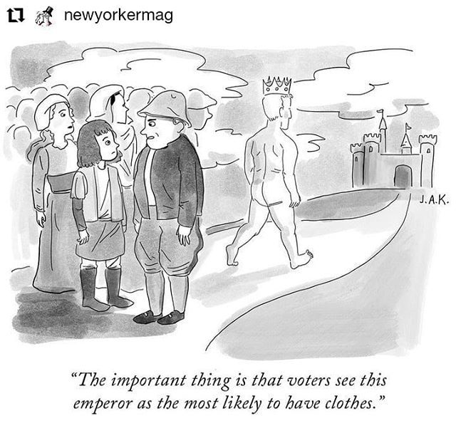 #Repost @newyorkermag • • • • • • The candidate's new clothes. #TNYcartoons https://t.co/yMHtrQBTol https://t.co/3PjMOtX1mP