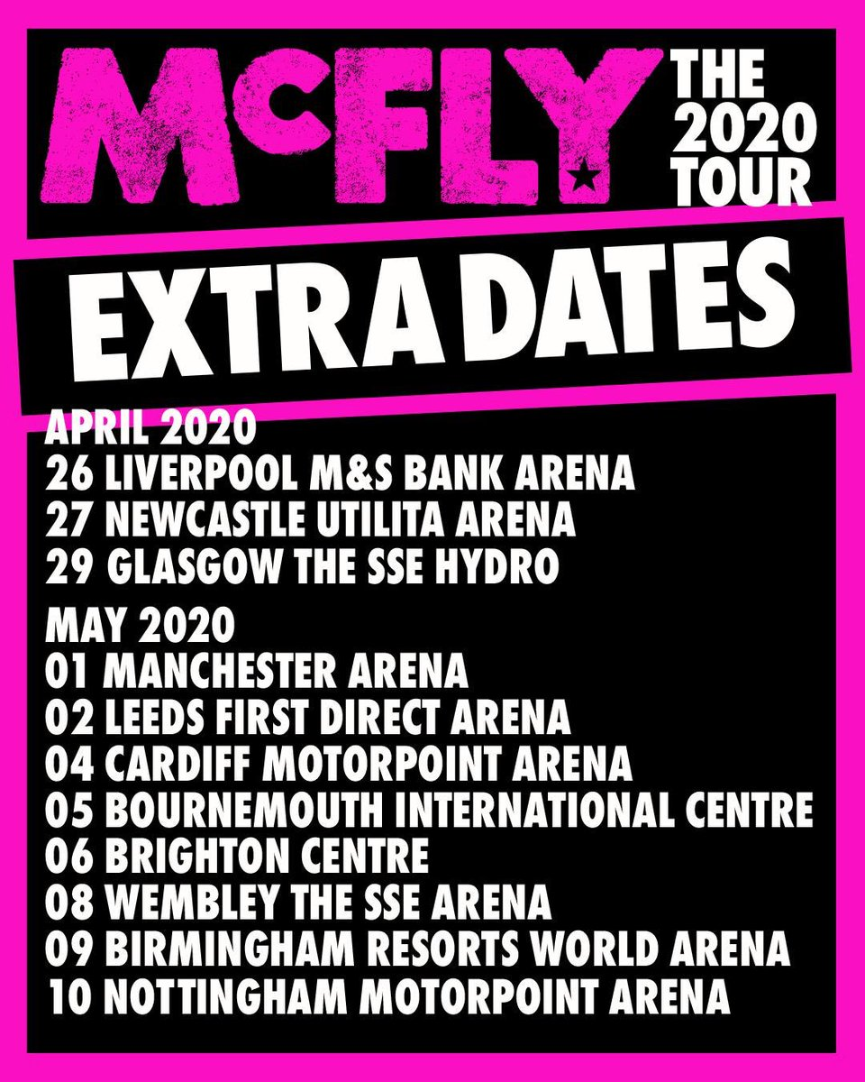 Mcfly tour tickets