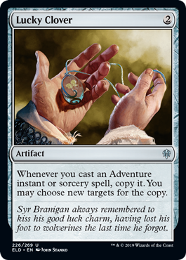 Two mana is a cheap cost for that effect... If theres great Adventures to copy. More previews at mtgpreviews.com #MTGEldraine Source: twitter.com/efropoker/stat… 🎨: @stankoart