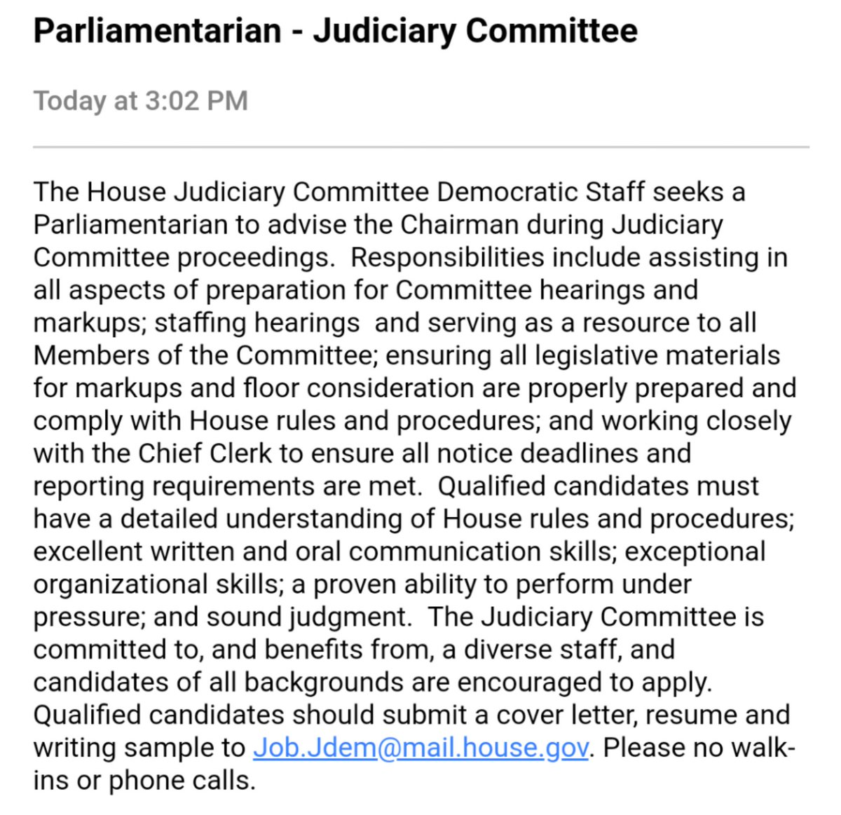Dept. of What Timing: Circulated by @LeaderHoyer's office today as HJC Lewandowski hearing devolves into hot mess. https://t.co/YU02Tfv6vi
