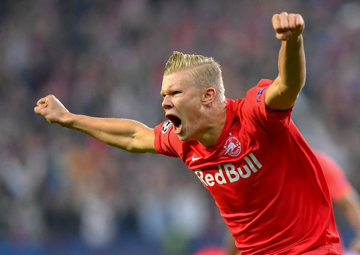 #UCL debut ✅ Goalscorer ✅  Erling Braut Håland has now scored 15 goals for Salzburg in all competitions 🔥