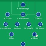 Image for the Tweet beginning: #Chelsea vs #Valencia #Lineups #CHEVAL @ChelseaFC @valenciacf_en