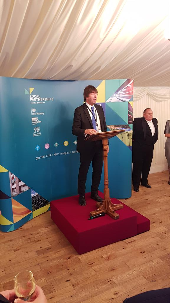 RT @CllrDavidRenard Delighted to join @garyportercbe and others from @LGAcomms for the Local Partnerships 10th anniversary event at the House of Lords