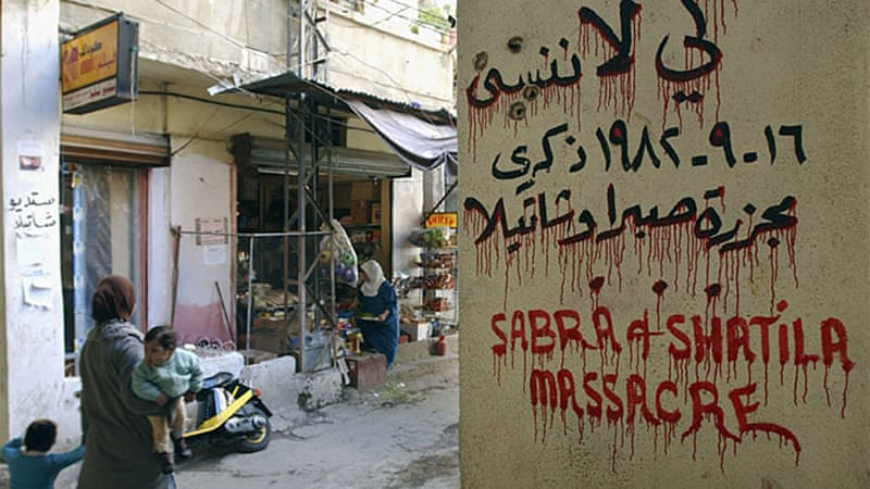 Remembering Sabra & Shatila: #OnThisDay in 1982, hundreds of Palestinians were killed in refugee camps in Beirut by members of the Phalange party, in one of the most brutal massacres of the Israel-Palestine conflict  https:// aje.io/q7hdx    <br>http://pic.twitter.com/FYkKAUrPmx