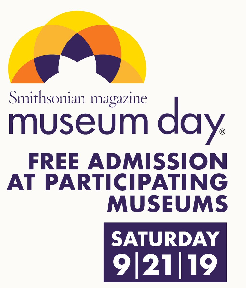 This weekend is @SmithsonianMags #MuseumDay! THis annual event is a celebration of cultural institutions across the country & featured FREE admission to participating museums. Learn more here: smithsonianmag.com/museumday/muse…