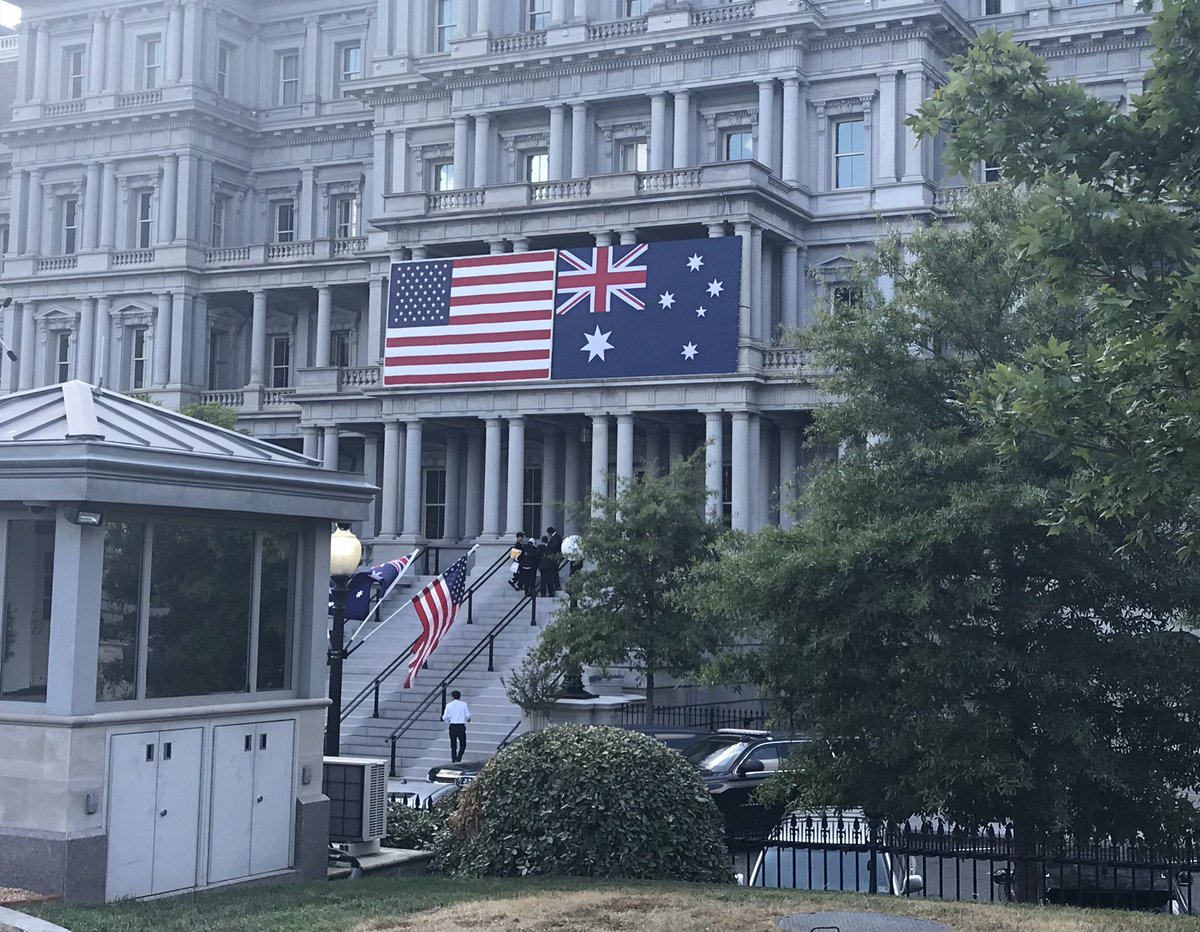 The state dinner with Australian PM Scott Morrison will be held in the South Lawn ballroom @realDonaldTrump promised to build during the campaign.