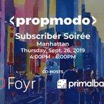 Image for the Tweet beginning: Join @propmodo + @myfoyr Sept