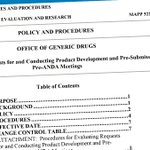 Image for the Tweet beginning: NEW! CDER Manual of Policies