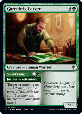A common creature and combat-trick adventure. More previews at mtgpreviews.com #MTGEldraine Source: twitter.com/efropoker/stat… 🎨: @LucasJGraciano