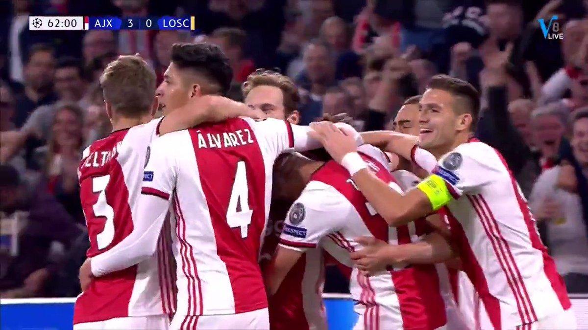 Ajax - Lille 3-0 door Nico Tagliafico