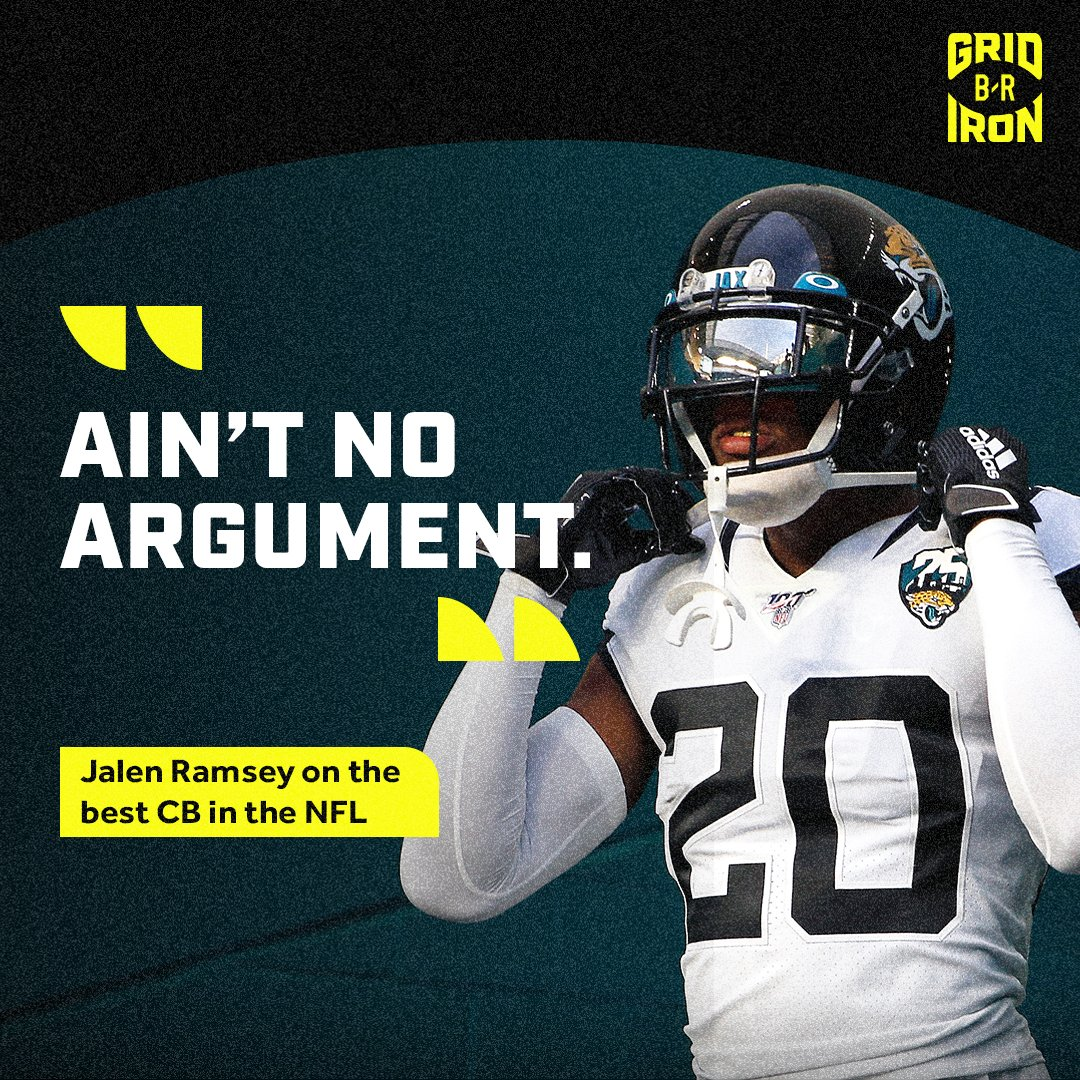 Arguably the best corner in football?   @jalenramsey doesn't want any confusion 😤 https://t.co/eWLHheihaT