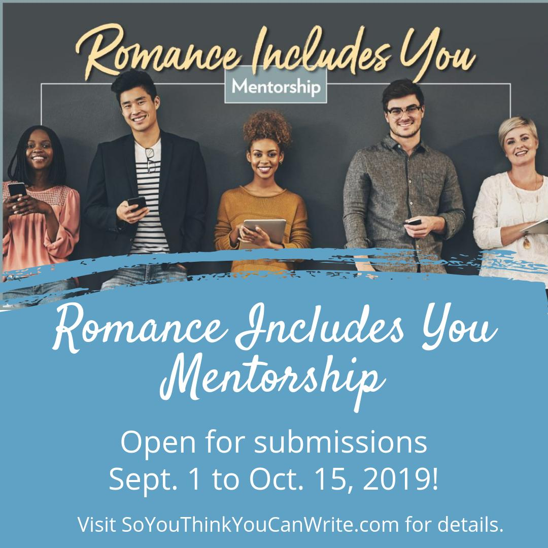 Submissions for the Romance Includes You Mentorship are open until October 15th on Submittable:  http:// bit.ly/2m5HFGs    . We encourage writers from underrepresented communities to submit! Check out the official page for more details:  http:// bit.ly/2XIRKLL    <br>http://pic.twitter.com/Le36ch8tEz