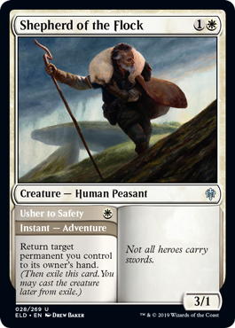 And what should be our last preview for the day, another uncommon adventure. More previews at mtgpreviews.com #MTGEldraine Source: twitter.com/efropoker/stat… 🎨: @DrewBaker