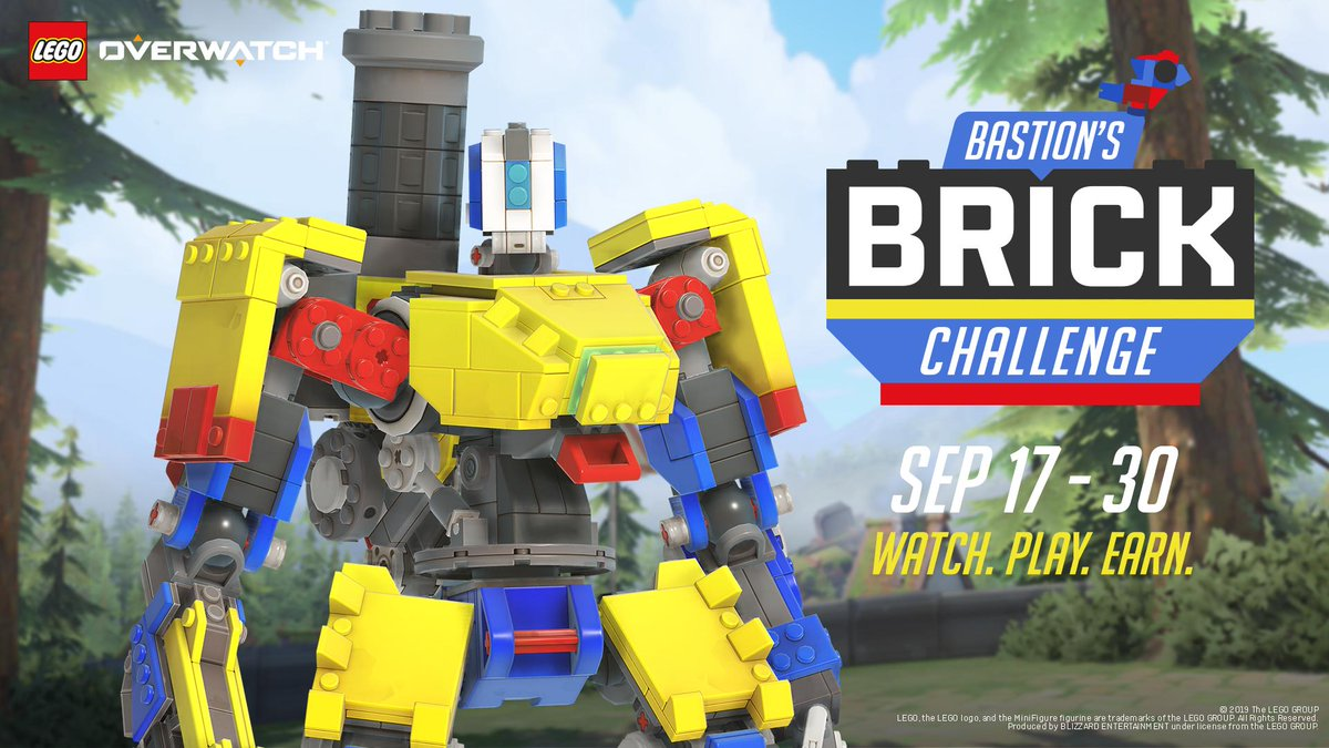 Bastion's Brick Challenge is bringing new sprays, player icons, and the legendary Brick skin to everyone's favorite, lovable omnic.Available now through September 30: https://xbx.lv/2kGg12H