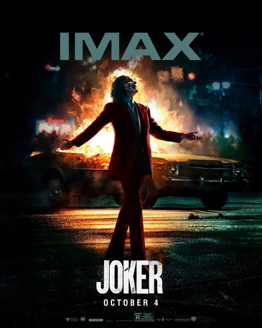 The official @IMAX #Joker poster has been released 🤡