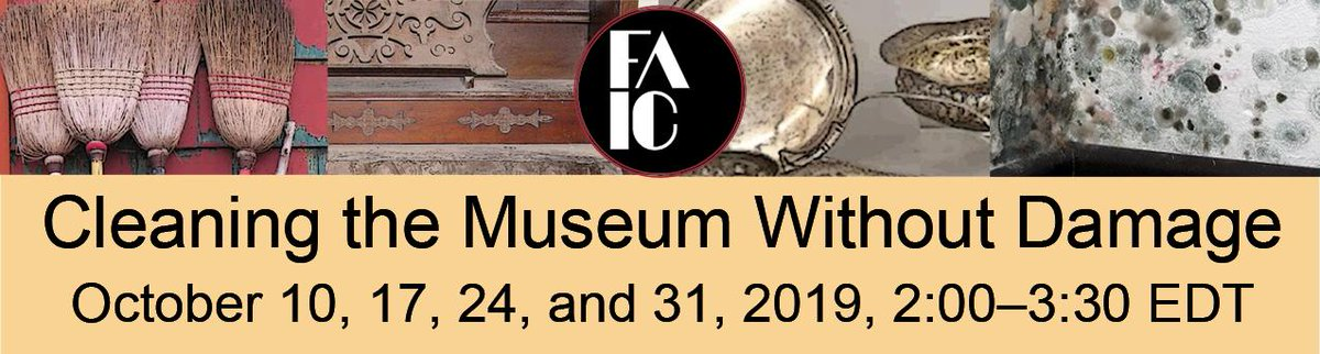 The discounted registration for Cleaning the Museum without Damage ends on Thursday, 19 September - Sign up now - it should be fun. connectingtocollections.org/cleaning-witho…