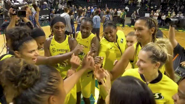"""We were gonna hit some bumps in the road and every time they hit a bump they kinda dug in and came back and got us to another peak.   ""In [a year] that we could've taken a step back I think we actually went forward"" - Coach Hughes    #WeRepSeattle #KeepFighting"