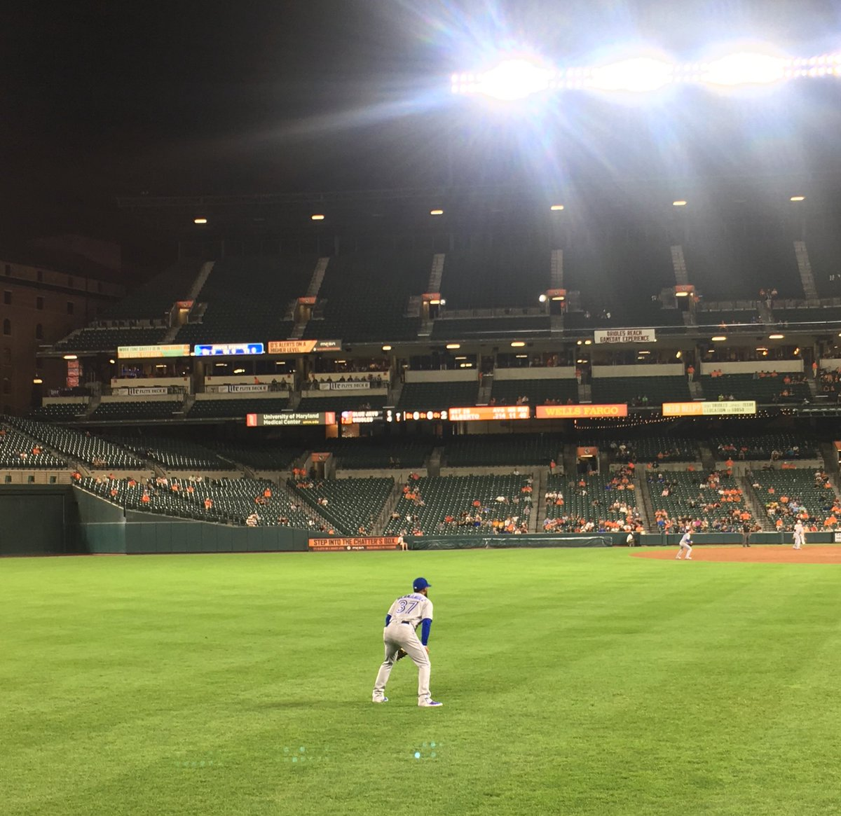 I don't normally shoutout opposition players but @TeoscarH is a class act in left field. He was bopping along to our home team chants (apparently a Beatles fan!) and was really good natured towards our light hecklers. He made some friends tonight in Baltimore.