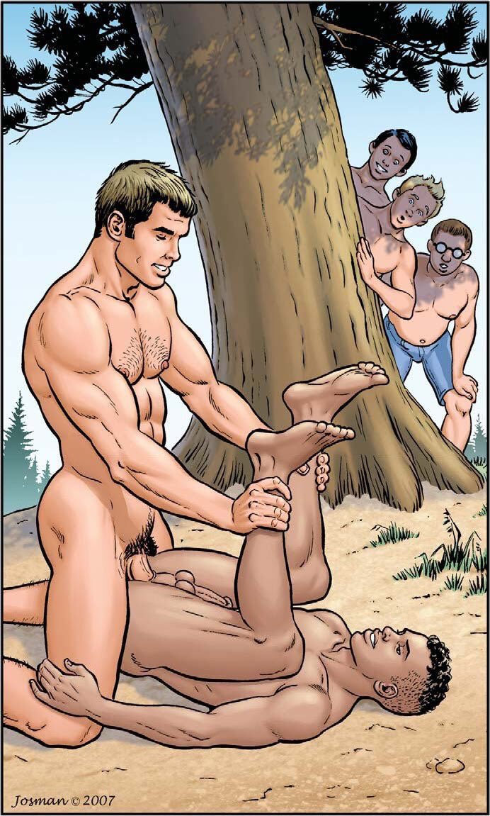 Gay cartoon wood naked