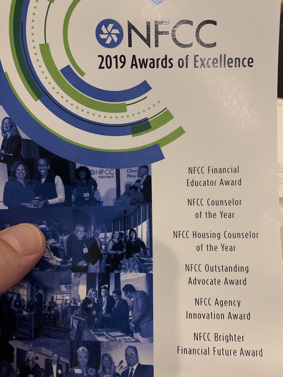 Thanks to our friends in personal finance media, @EllenYChang and @Bankrate, for judging the @NFCC Awards of Excellence this year!