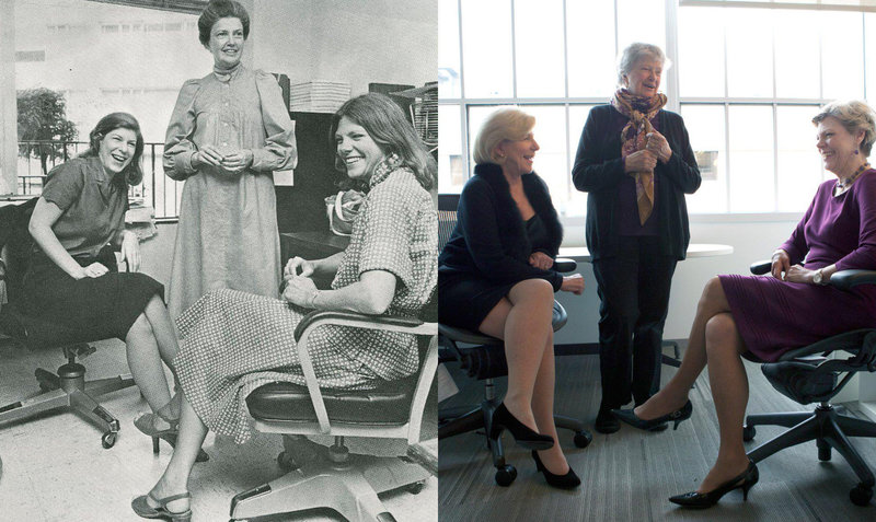 These photos of Cokie Roberts, Linda Wertheimer and Nina Totenberg four decades apart gave me a lump in my throat. Young women working in journalism today stand on the shoulders of giants. https://t.co/j1F6VH9TWF https://t.co/wX2Fgd6jDA