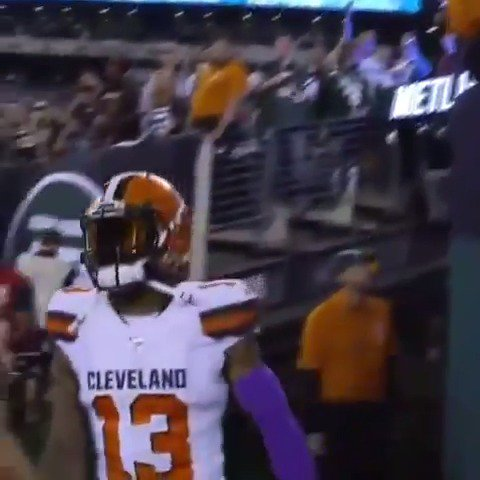 Last night @obj told heckling fans he's still the king of New York.   Then he ripped the Jets for 161 yards 😈   (via objrgang/IG, @snytv) https://t.co/DM6CEgZN3T