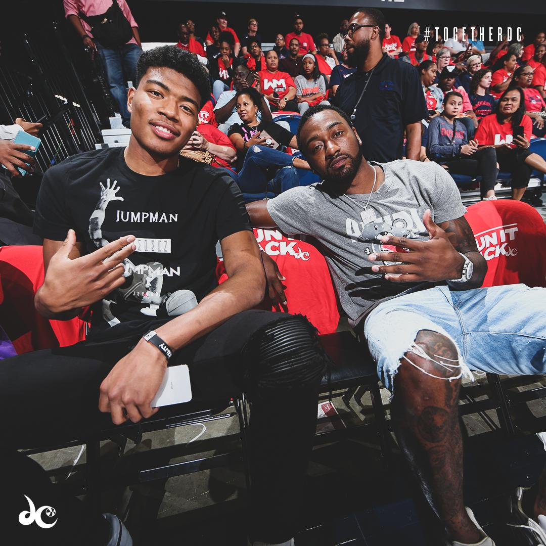Rui & @JohnWall in the house tonight. Appreciate the support, fam!  #TogetherDC #DCFamily #RunItBack