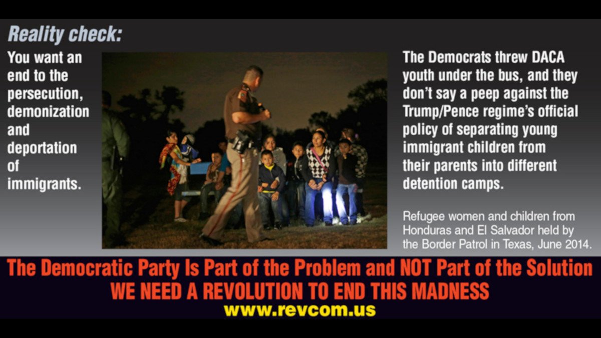 #RealityCheck: You want an end to the persecution, demonization & deportation of immigrants?  The #DemocraticParty is part of the problem and NOT part of the solution –gave $4.6B to Trump's #borderwall –threw #DACA youth under the bus –offered toothless objections to #ICEraids <br>http://pic.twitter.com/IqQcxtq4DH