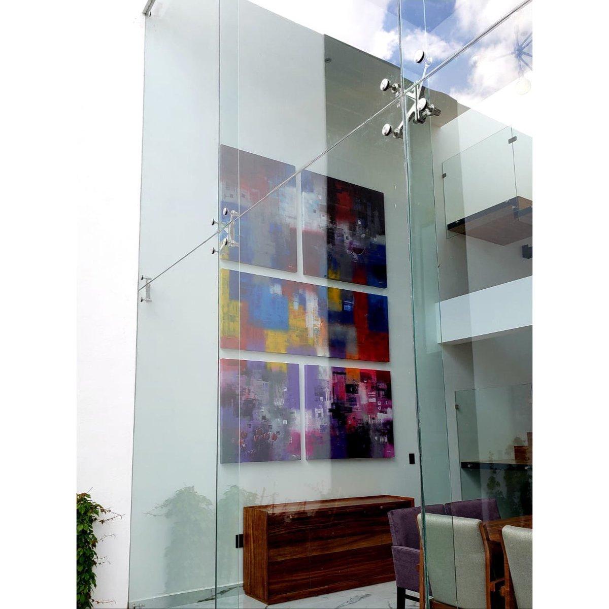 Montaje de hoy en casa MC en Pachuca, Hidalgo. / #pintura #arte #colores #casa #interiordesign #interiorismo #montaje #pedrotrueba #mexicano #pachuca #hidalgo #casa #casa #diseño #diseñodeinteriores