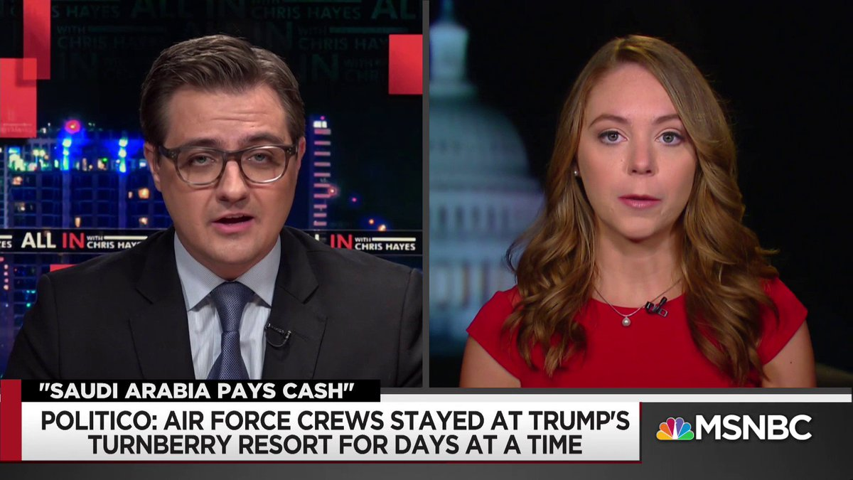 "WATCH: @NatashaBertrand gives the latest on the corruption involving Trump's properties: ""The US Air Force acknowledged to us that they wouldn't be surprised at all and it would make complete sense if they were Trump Turnberry's largest customer."" #inners https://t.co/HFGqTCMofZ"