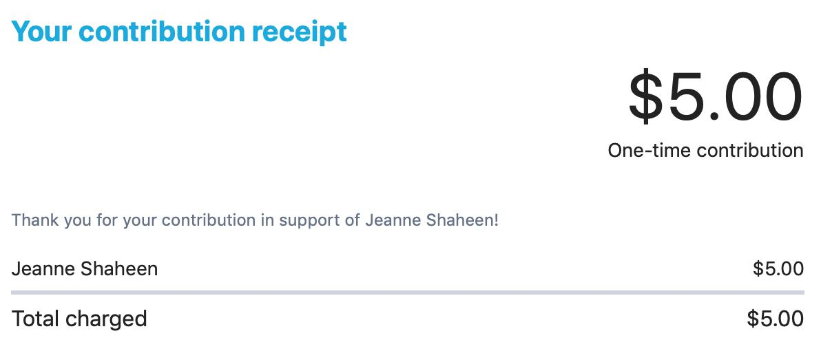 Btw, I just did my part and donated $5 to Democrat @JeanneShaheen for #NHSen.Sen. Shaheen holds the seat that Corey Lewandowski is running for, and I'll be damned if I let him try to take it without a fight.Can you chip in $5, too?If so, cllick here:https://secure.actblue.com/contribute/page/homepagedefault …