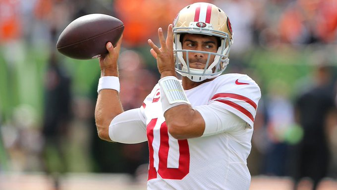 Jimmy Garoppolo in Week 2: 🔥🔥🔥   Now the Niners are 2-0 for the first time in seven years!   #GoNiners