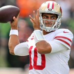 Image for the Tweet beginning: Jimmy Garoppolo in Week 2: